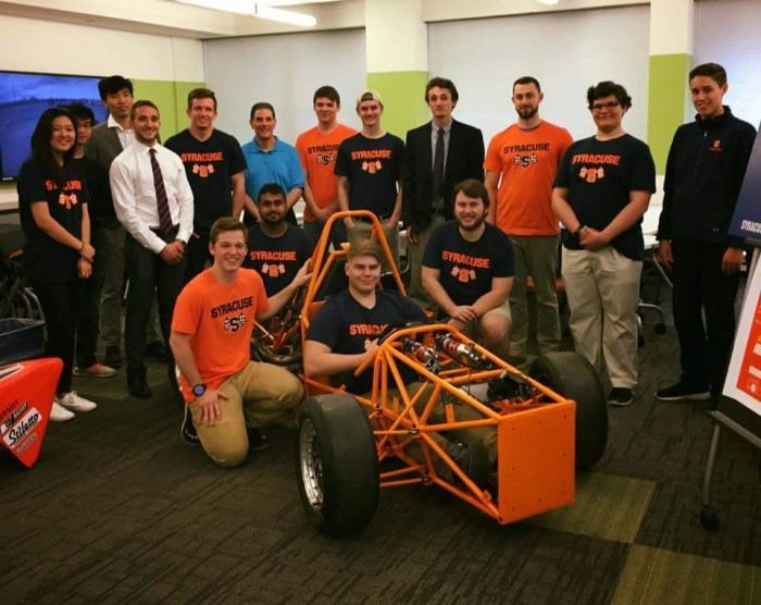 My college Formula SAE team at the 2017 unveiling