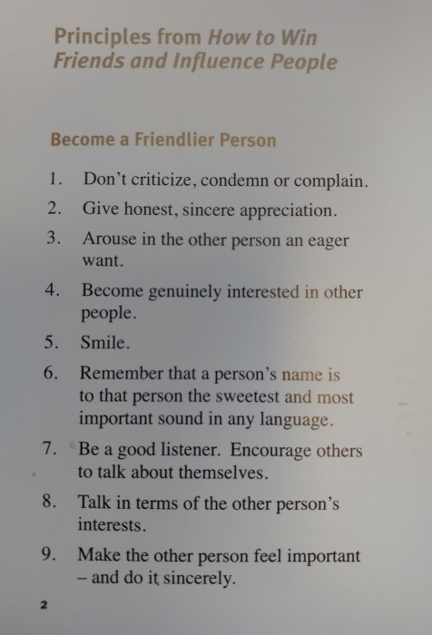 Dale Carnegie's tips for being a friendlier person