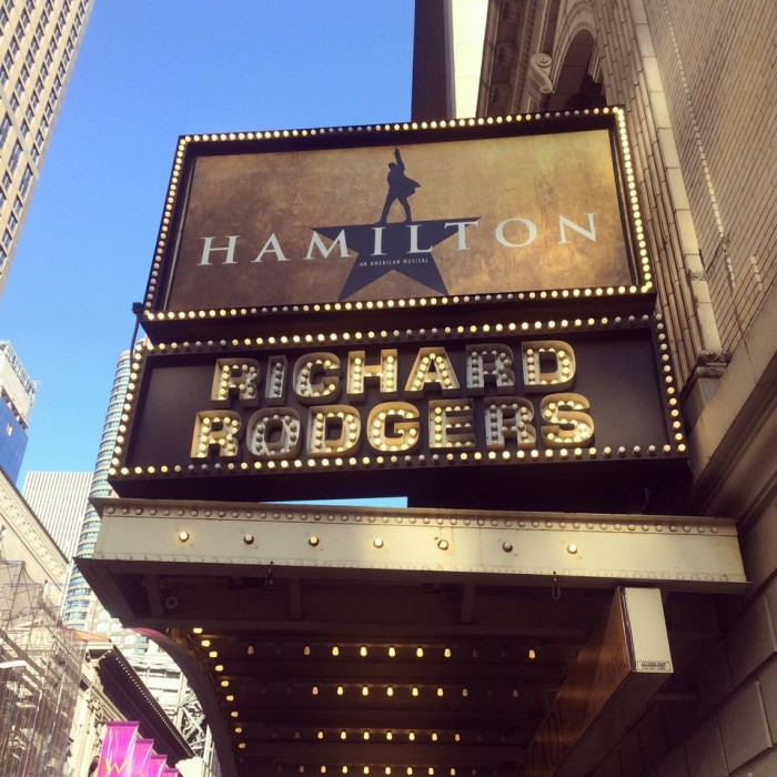 The sign outside the Richard Rodgers Theater.