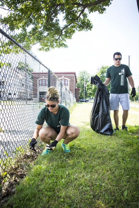 Quality of Life Sweep: Indium Corporation college interns volunteered to help Utica, NY's mayor tidy up city streets prior to the Boilermaker Road Race.