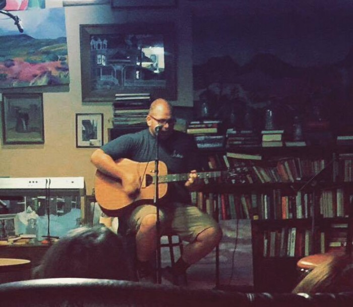 Me playing an acoustic set at Ole Sal's Cafe and Creamery this weekend.
