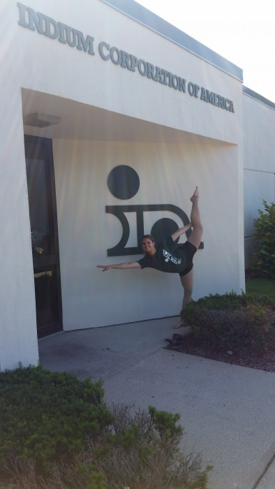 Dancing in front of Indium Corporation