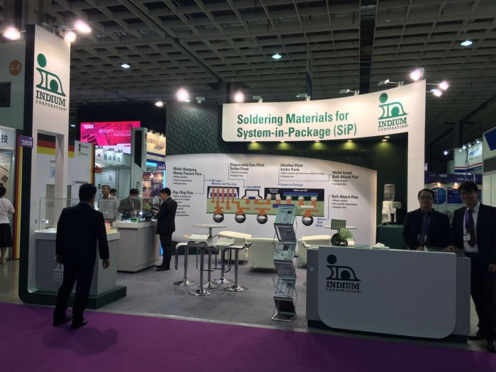 An example of Indium Corporations booth at SEMICON Taiwan 2016.